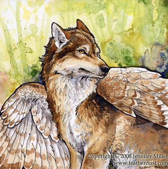 Barred Winged Wolf