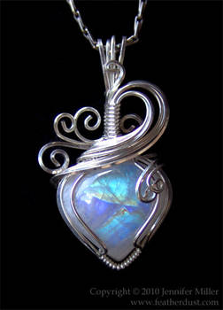 Glowing CrystalHeart Moonstone