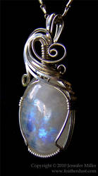 Silent Fire Moonstone