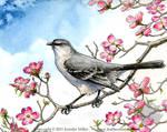 Mockingbird and Dogwood