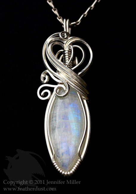 Marquise Moonstone Pendant by Nambroth