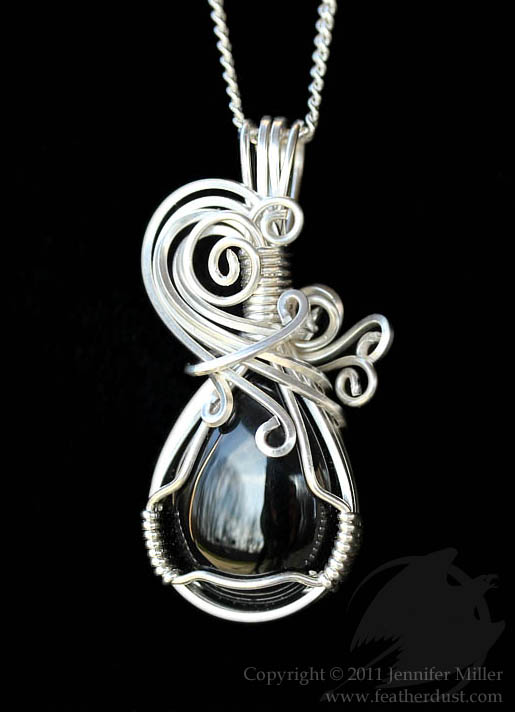 Lyrical Black Onyx Pendant by Nambroth