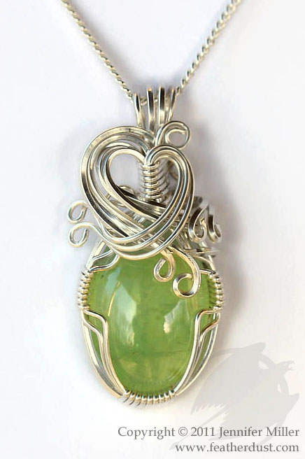 Slumbering Forest Prehnite Pendant by Nambroth