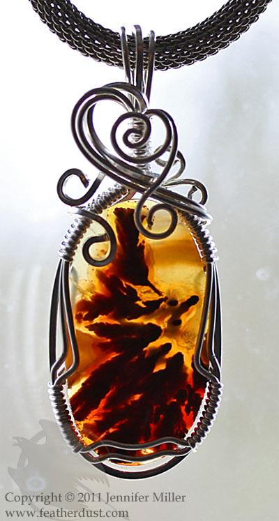 Inner Phoenix Pendant: Back-lit by Nambroth