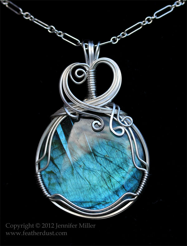 Echoes of Neptune Labradorite Pendant by Nambroth