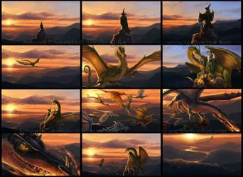 Flight of Dragons Trailer Storyboard by Nambroth