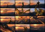 Flight of Dragons Trailer Storyboard