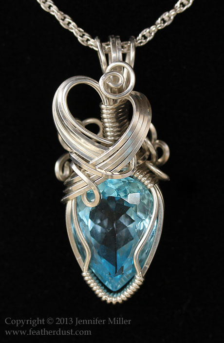 Radiant Ice Topaz Pendant by Nambroth