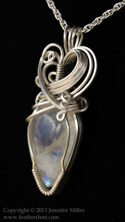 Secret Holder Moonstone Pendant by Nambroth
