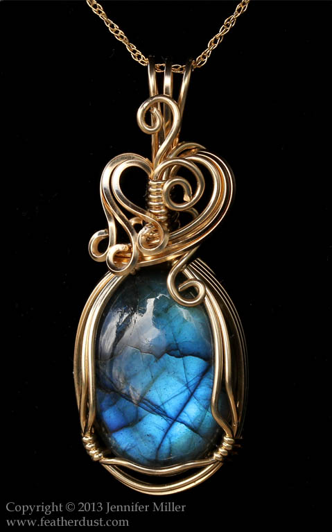 Wheat and Sky Labradorite Pendant by Nambroth