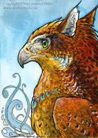 Firey Frostcheek Gryphon Miniture Painting