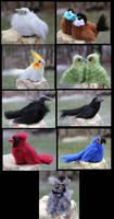 Bird Critters, December Batch
