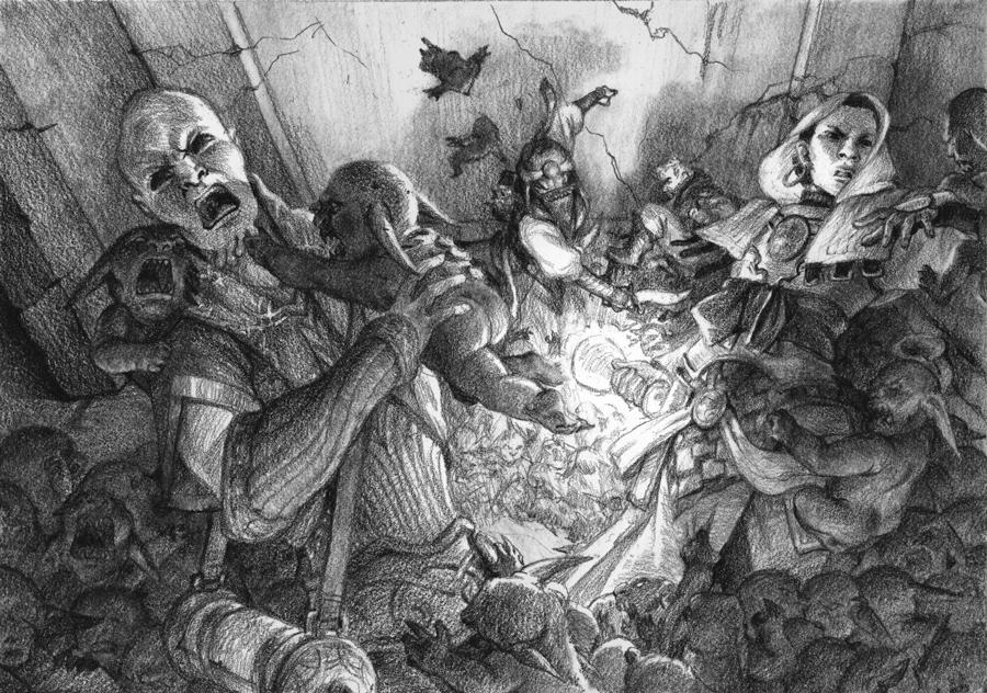 Goblin Whelp Swarm Attack! by radioblur