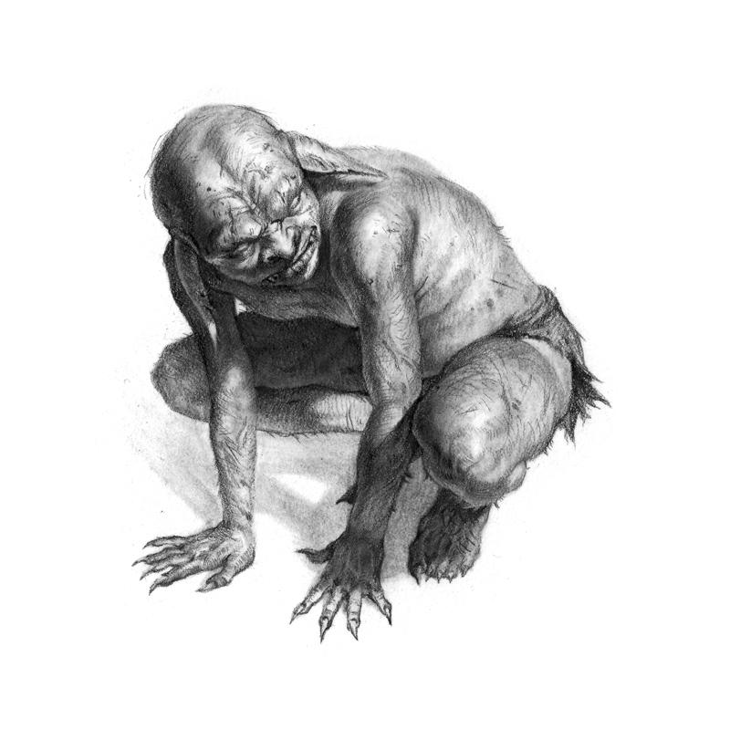 Temple of Modren - Goblin Portrait by radioblur