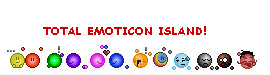 TOTAL EMOTICON ISLAND by twistedlove1243
