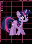 Twilight Sparkle Cross Stitch Pattern