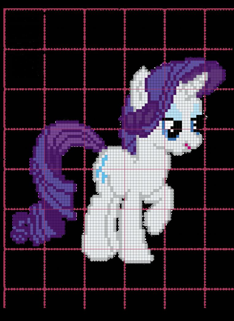 Rarity Cross Stitch Pattern by AgentLiri