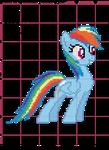 Rainbow Dash Cross Stitch Pattern