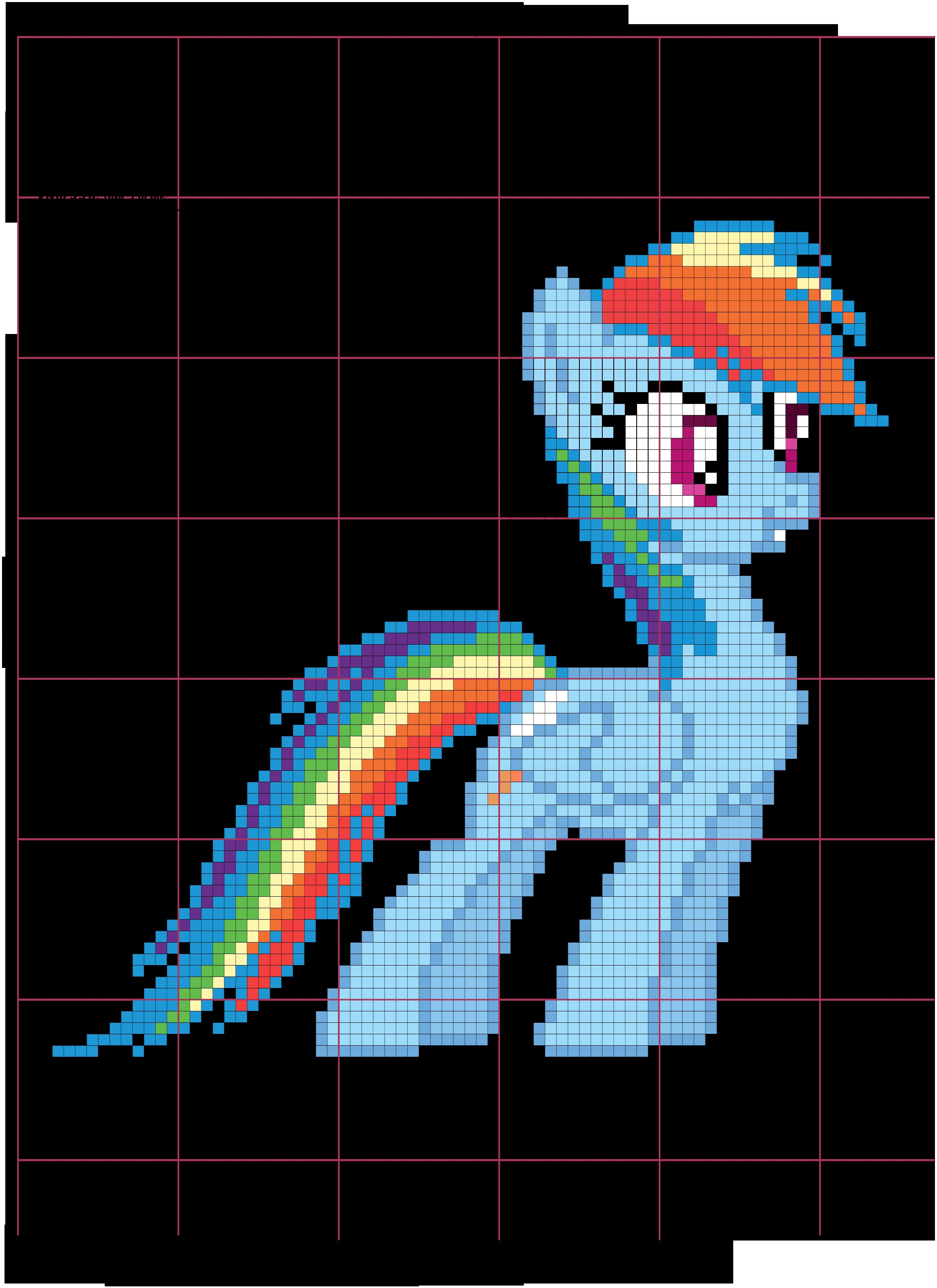 Rainbow Dash Cross Stitch Pattern by AgentLiri