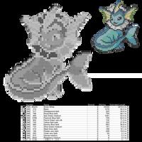 Vaporeon Cross Stitch Pattern by AgentLiri