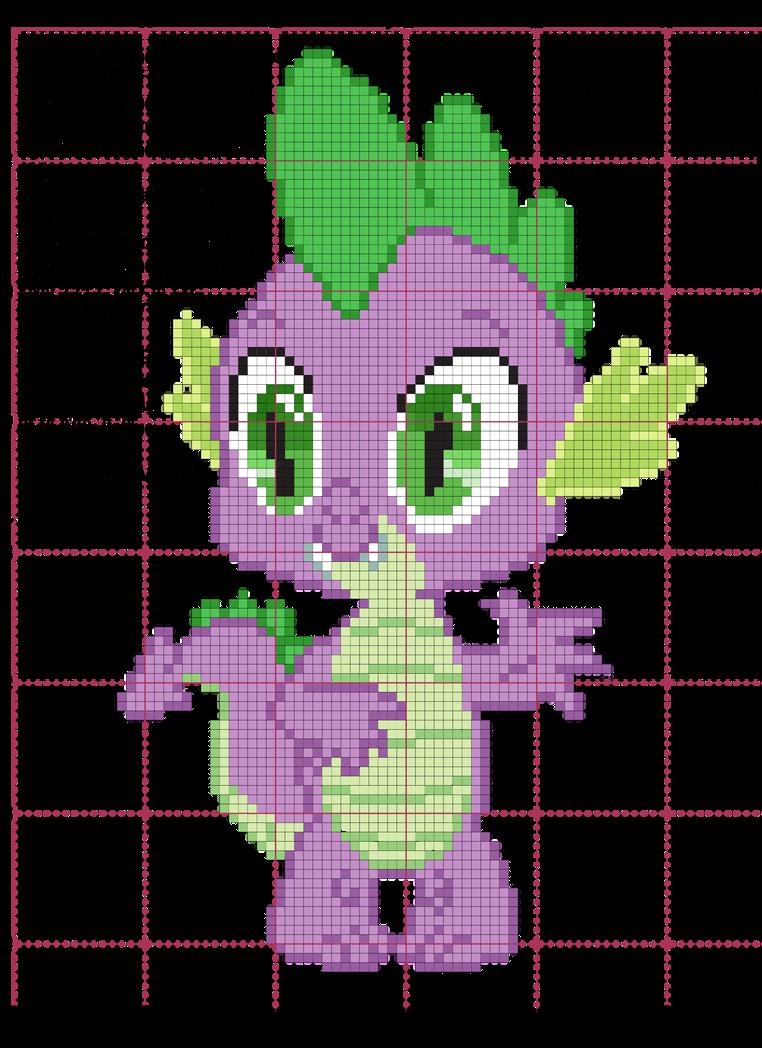Spike Cross Stitch Pattern by AgentLiri