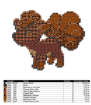 Vulpix Cross Stitch Pattern