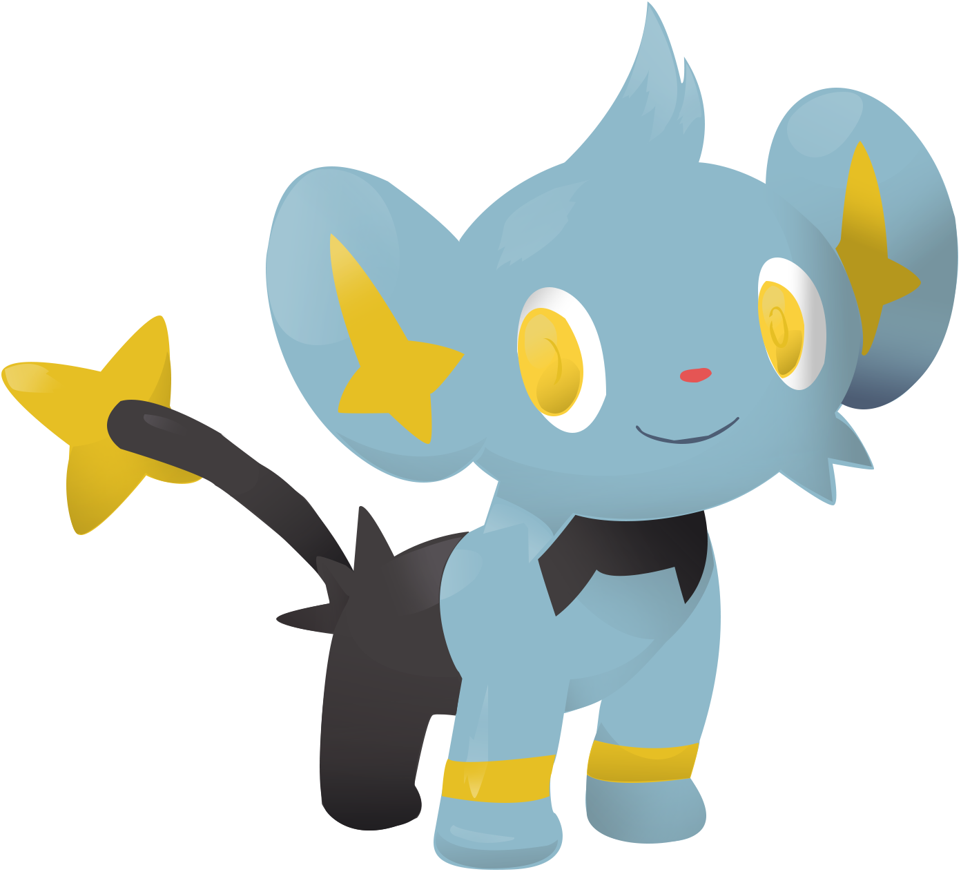 Shinx Vector Lineless: 403 by AgentLiri