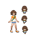 Art Trade: Sadie Trainer Sprites by AgentLiri