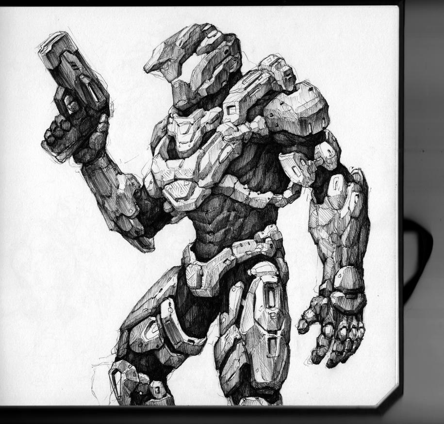 My Halo Suit by thiago-almeida