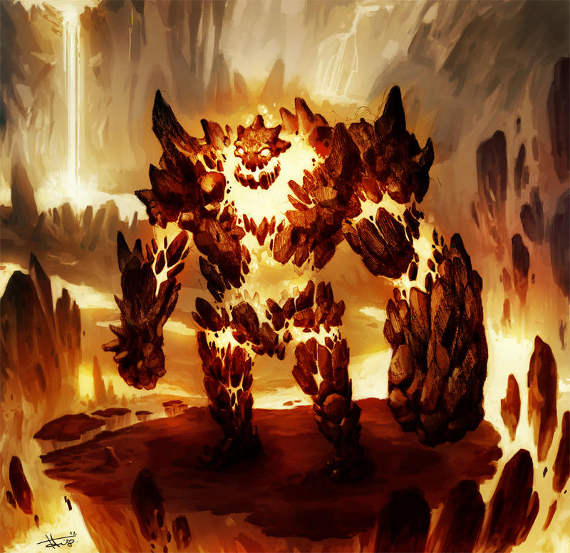 Magma Golem by thiago-almeida