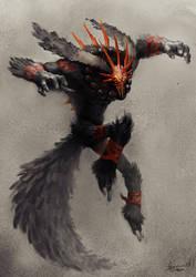 Shimaru, the cursed Tail by thiago-almeida