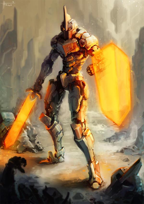 Mech Warrior by thiago-almeida