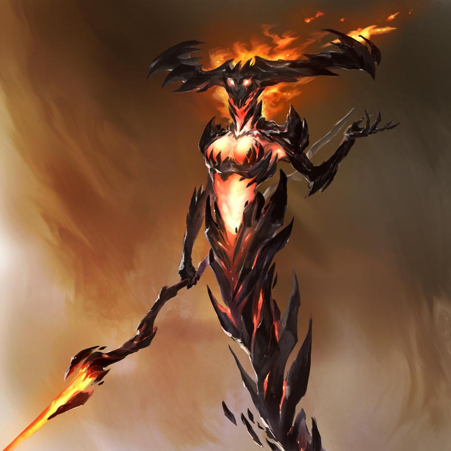 Queen of flames by thiago-almeida