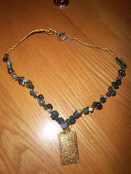 Wire wrapped  necklace 2. by NeSempai