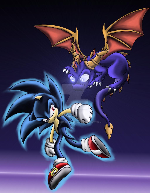 Dark Super Sonic Vs Dark Spyro by shadowhatesomochao on ...