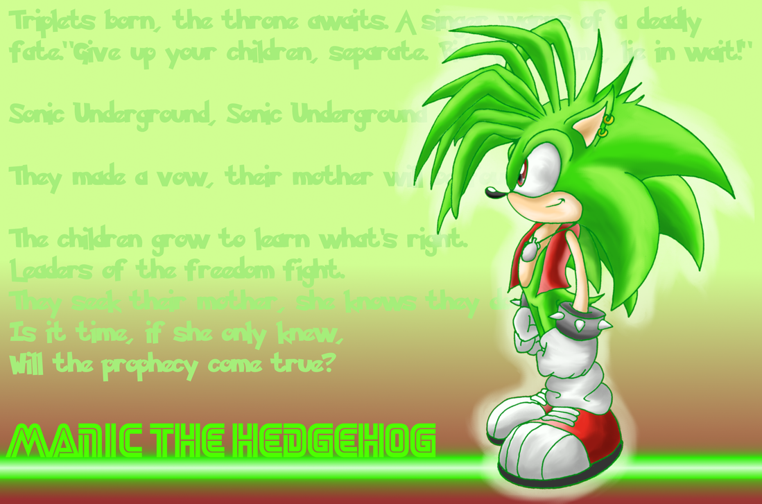Manic the hedgehog wallpaper by shadowhatesomochao on ...