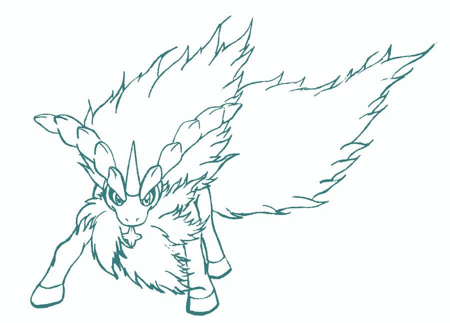 Keldeo Pokemon Coloring Page