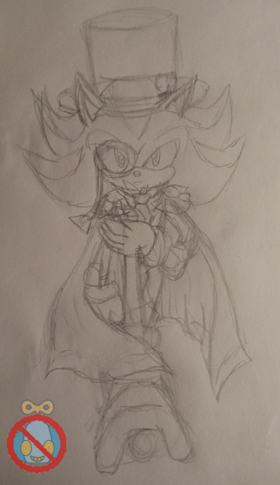 Shadow cosplaying Sketch by shadowhatesomochao