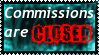 Stamp: Commissions are CLOSED by shadowhatesomochao