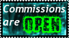 Stamp: Commissions are OPEN by shadowhatesomochao