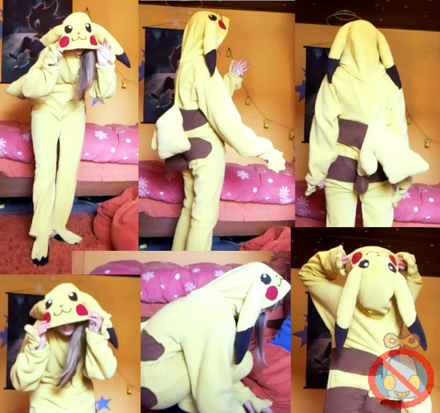 Pikachu Cosplay FOR SALE! 60 Euro! by shadowhatesomochao