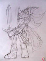 Shadow radiant Paladin form sketch 2 by shadowhatesomochao
