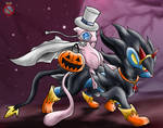 CE: Luxray and Mew Halloween
