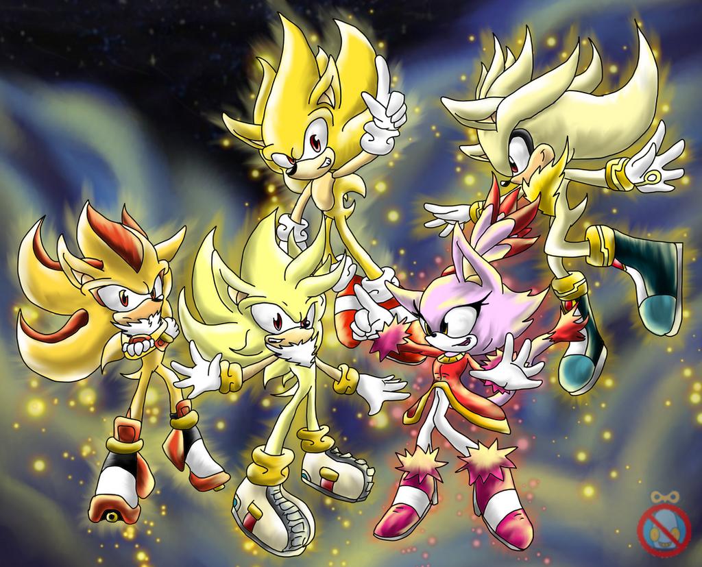 Super Sonic Shadow Silver Burning Blaze by shadowhatesomochao