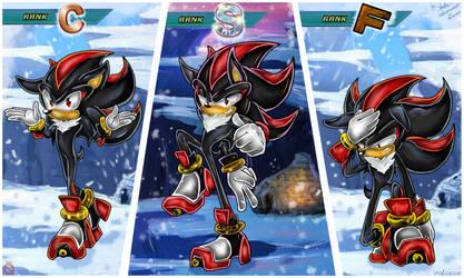 CE:  Shadow rank poses by shadowhatesomochao