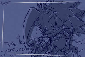 CM: Edge Sonic Channel Wallpaper sketch by shadowhatesomochao