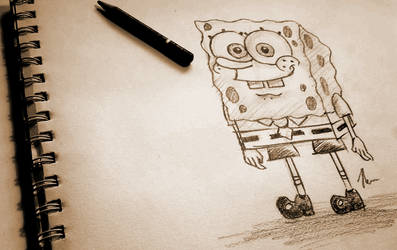 Pencil Time: Spongebob + Video by shadowhatesomochao