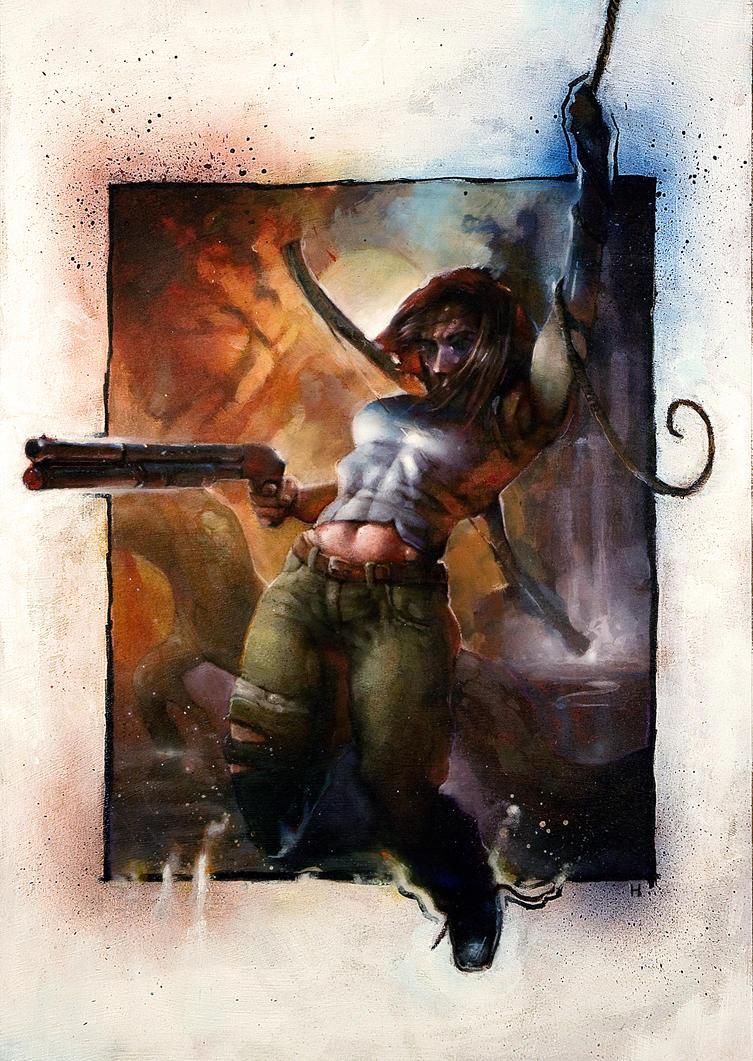 Shotgun Lara by heikk1