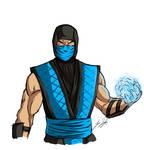Illustration of Joe Taslim as Sub-Zero