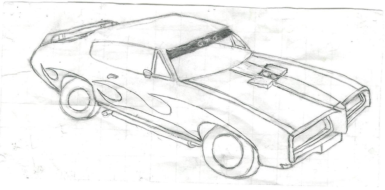 Muscle Car Drawing By Zomby0Wolf